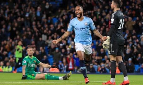 Raheem Sterling hat-trick for Manchester City ends Watford resistance