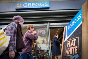 A flat white from Greggs costs £1.75, 40p cheaper than Pret a Manger.