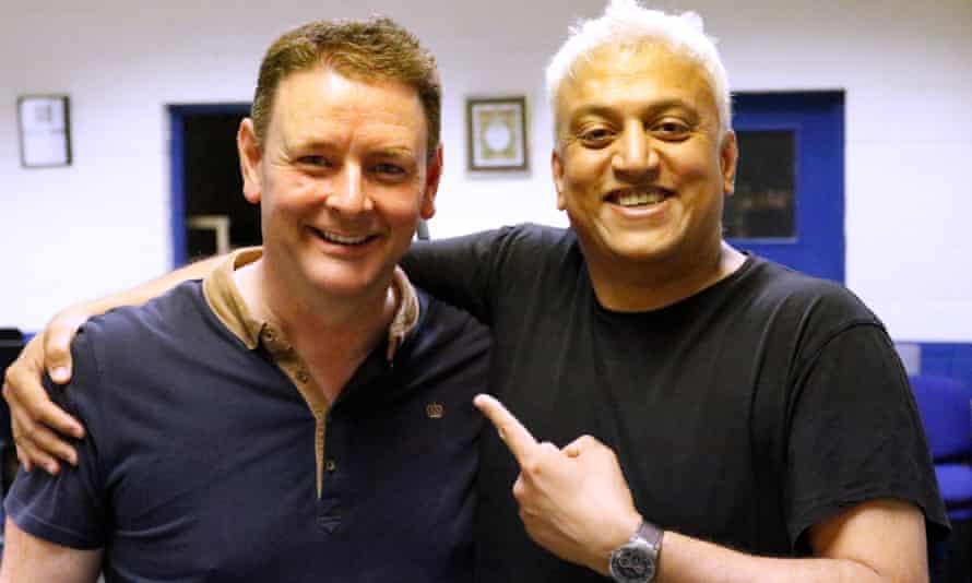Hammonds Saltaire conductor Morgan Griffiths (left) and Shri Sriram.