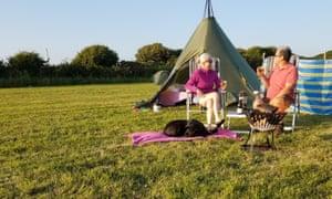 Ffynnonddewi campsite, Wales