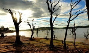 Lake Hume in the Murray-Darling basin during drought in 2009.
