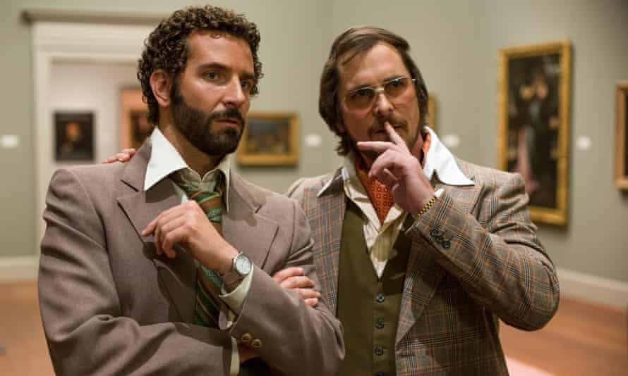 American Hustle (2013), starring Bradley Cooper, left, and Christian Bale.