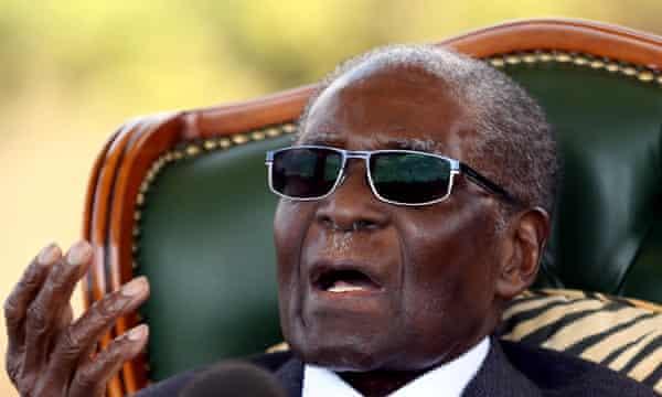 Zimbabwe's former president Robert Mugabe
