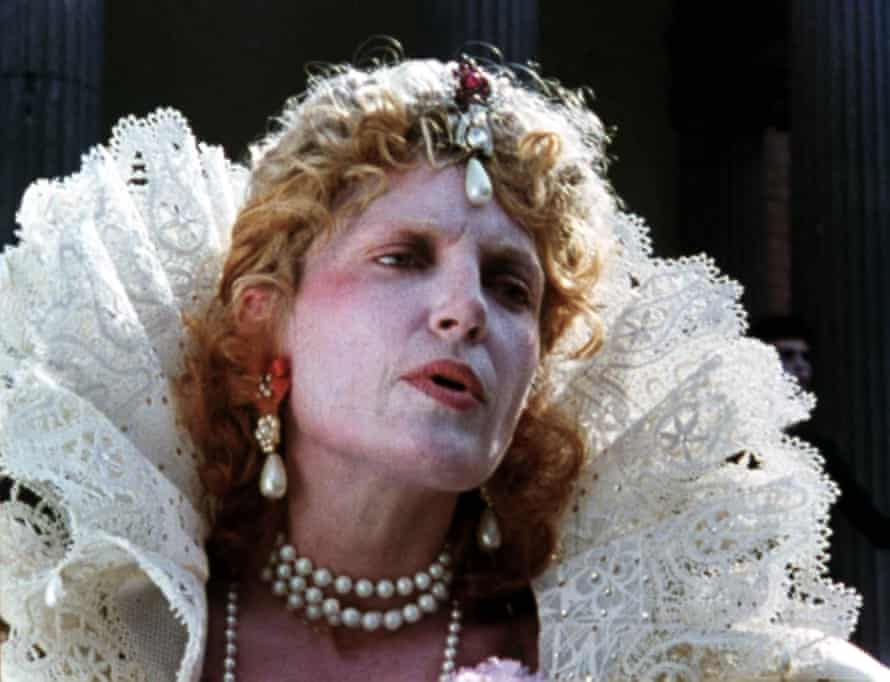 Runacre as Elizabeth I in Derek Jarman's Jubilee.