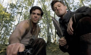 Eli Roth and Brad Pitt in Inglourious Basterds, in 2009.