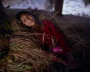 Laskhmi, 14, in her chhau