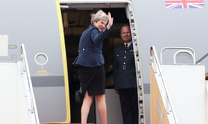 'A lame duck leader': Theresa May departs from Tokyo last week