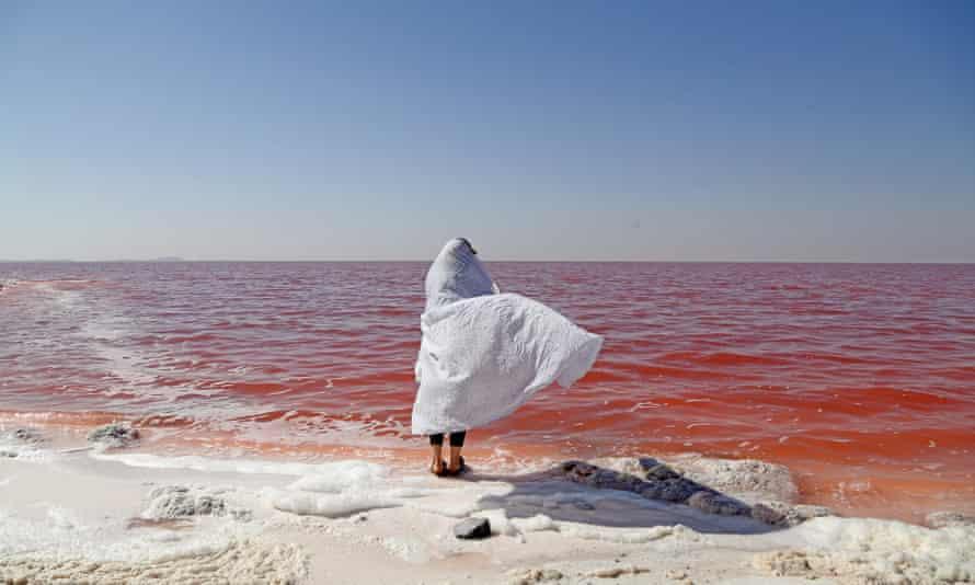 Lake Urmia in northwest Iran