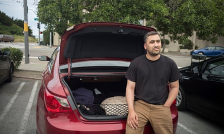 """""""Uber doesn't care about us, you can see this in our payment,"""" said Mohammad Sadiq Safi, a driver who commutes from Sacramento to San Francisco to drive."""