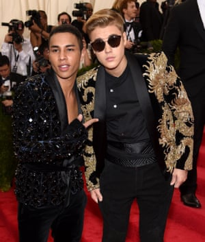Olivier Rousteing counts Justin Bieber among his many celebrity fans.