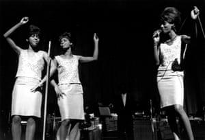 The Velvelettes perform at the Apollo in 1964.