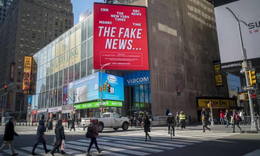 Would you believe it? … A pro-Trump billboard in New York.