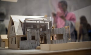 A model of Gehry's house.