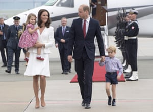 Warsaw, PolandPrince William and Catherine, Duchess of Cambridge arrive with their children Prince George and Princess Charlotte to start a 3 day tour