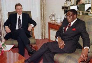 1997: Talks between Tony Blair and Robert Mugabe in November