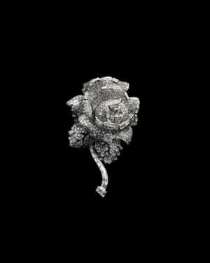 Rose clip brooch