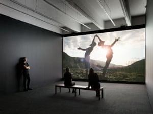 Installation view, Rashid Johnson The Hikers, Hauser & Wirth New York
