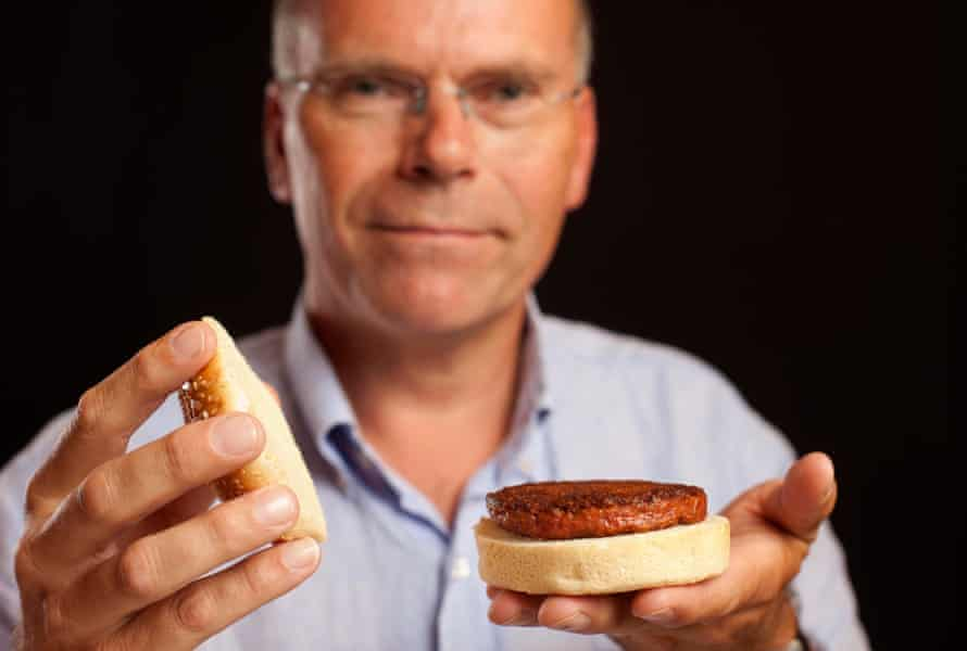 Professor Mark Post, who unveiled the world'sfirst cultured beefburger.
