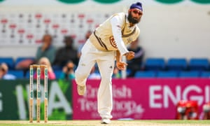 Amar Virdi in action for Surrey. He has been selected for the England Lions tour of Australia that starts this weekend.