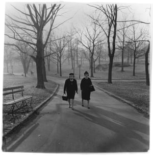 Two ladies walking in Central Park in 1963