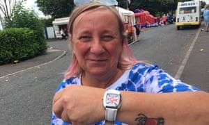 Janet Ogle, a loyalist near the Avoniel bonfire site in east Belfast.
