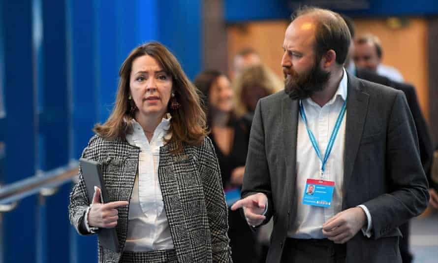 Fiona Hill, former adviser to Theresa May, with Nick Timothy
