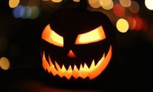 """A pumpkin jack-o'-lantern"""