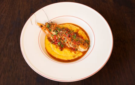 'It's not subtle, but it is good': shrimp and grits.