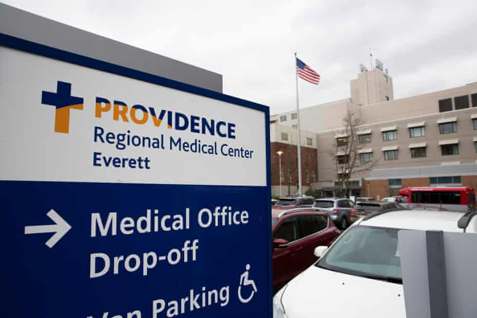 Providence Regional medical center where the first known person infected with coronavirus was observed, in Everett, Washington.