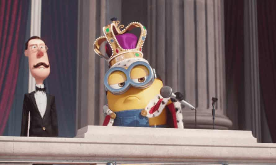A minion dropping the mic.