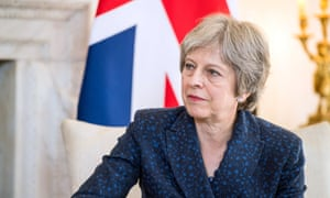 British Prime Minister Theresa May inside 10 Downing Street this week