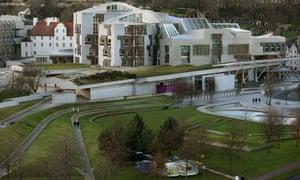 The Holyrood buildings in Edinburgh