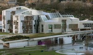 The Scottish parliament at Holyrood, Edinburgh.