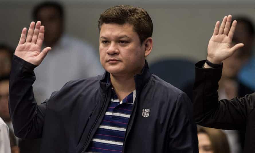 Paolo Duterte attends a senate hearing in Manila.