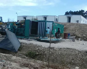 The alternative accommodation is still being built, despite assurances from the Australian government that the camp is complete and habitable.