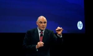 Léo Apotheker speaks at a Hewlett Packard conference