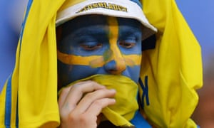 Sweden fans' quiet confidence turned to sombre reflection at the full-time whistle.