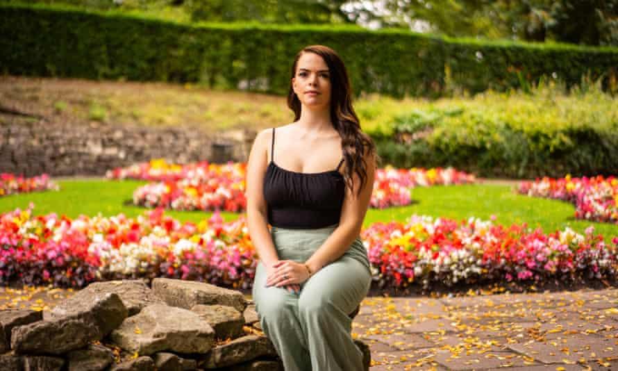 Roann Court, sitting in a garden.