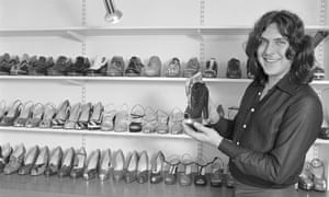Terry de Havilland in his shop on the King's Road, Chelsea, in 1974.