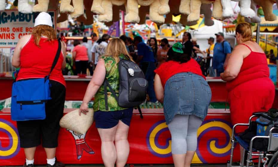 People attend a fair in Del Mar, California