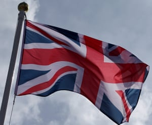 The Union Jack flag.
