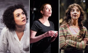Anya Khalilulina as Miranda in The Tempest, Jenny Konig in Ophelias Zimmer and Patsy Ferran as Celia in As You Like it.