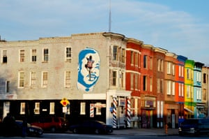 A small mural of Dr. Martin Luther King in Sandtown