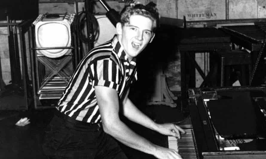 'Swaggering, ecstatic, vulnerable, orgasmic, postcoital' ... Jerry Lee Lewis in 1957.