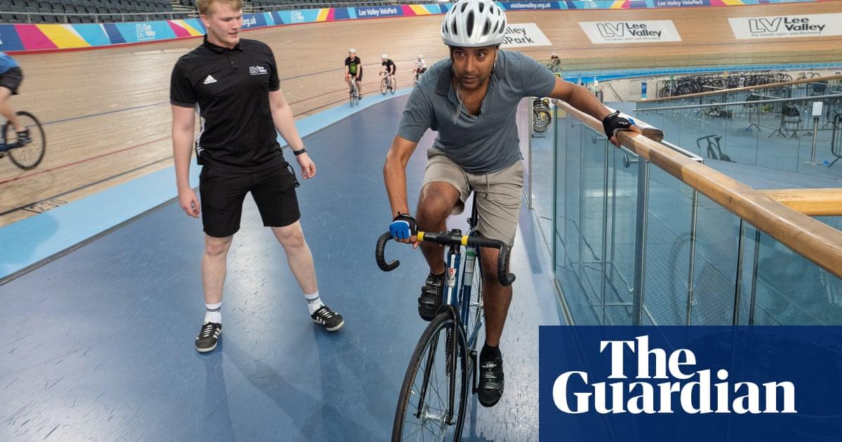 Rhik Samadder tries … track cycling: 'It's like being overtaken by lorries on a motorway designed by Escher'