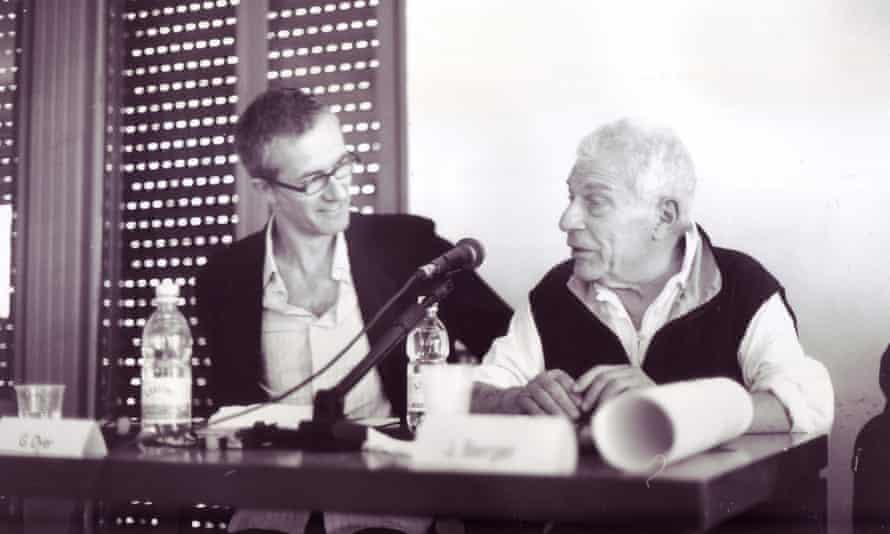 Geoff Dyer with John Berger in Turin, 2004.