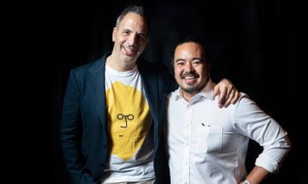 Yotam Ottolenghi with Adam Liaw.