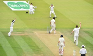England's Moeen Ali is caught behind by Ireland's Gary Wilson off the bowling of Ireland's Boyd Rankin.