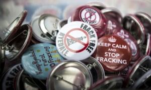 Anti-fracking demonstration in Northallerton, Yorkshire.