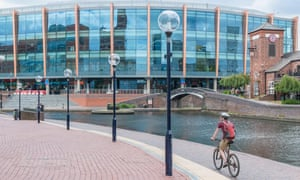The Starley network will incorporate cycle routes such as this one at Brindleyplace, Birmingham.